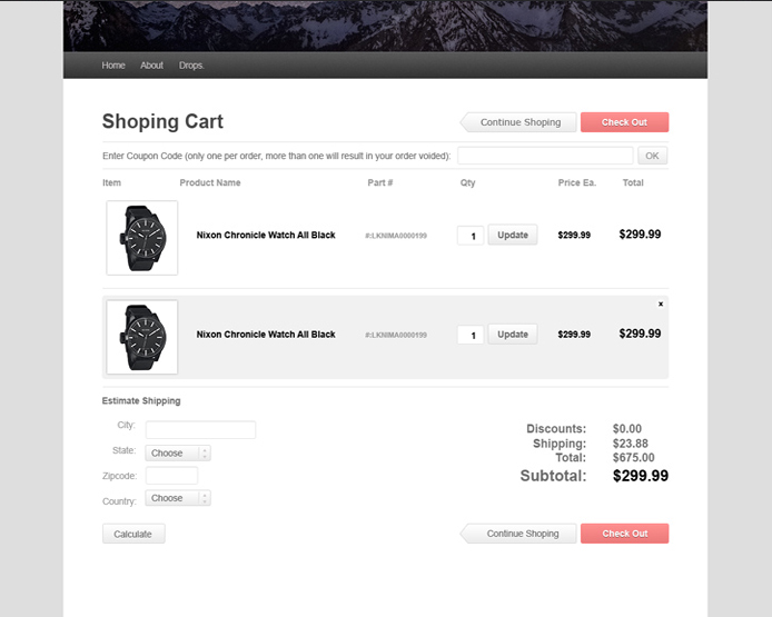 Default WordPress Commerce Free Theme