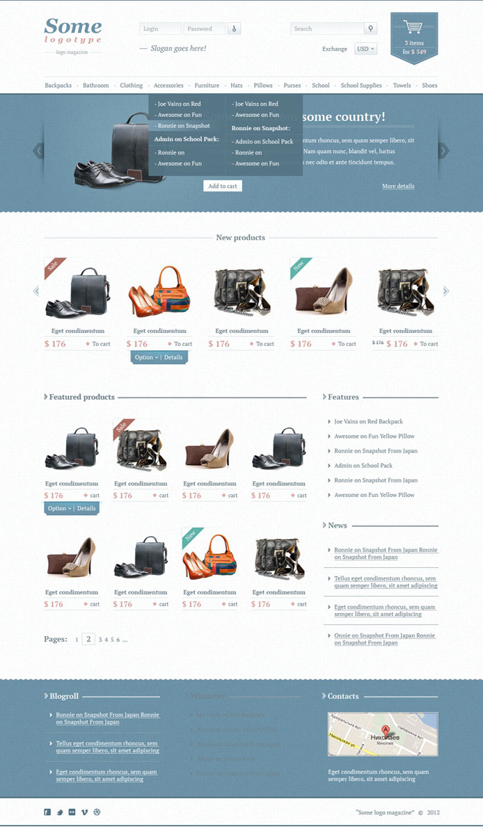 """Jeans"" Free Ecommerce Theme"