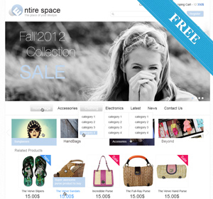 """Entire"" Responsive eCommerce WP Theme"