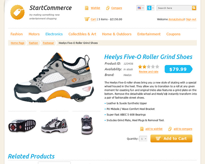 Start E-commerce Theme