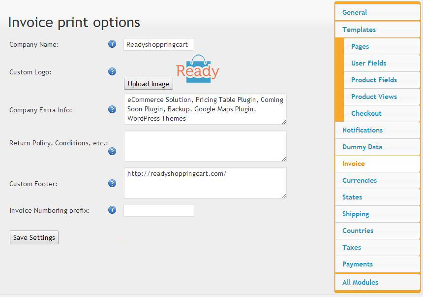 Invoice and Packing Printing Extension