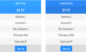 CSS less responsive pricing tables pack