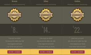 Retro pricing table plugin