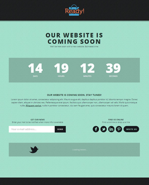 Coming Soon WordPress template
