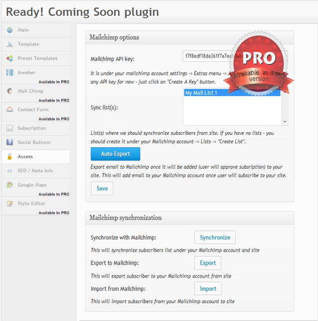 Coming Soon Plugin