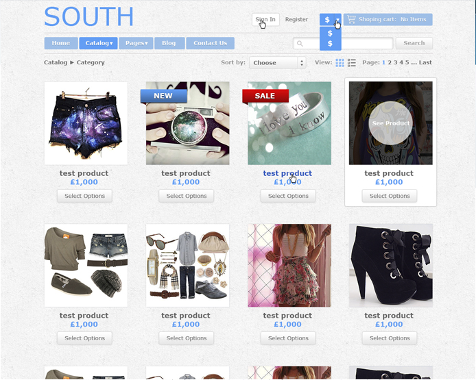 South eCommerce Theme