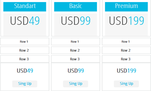 light pricing tables plugin