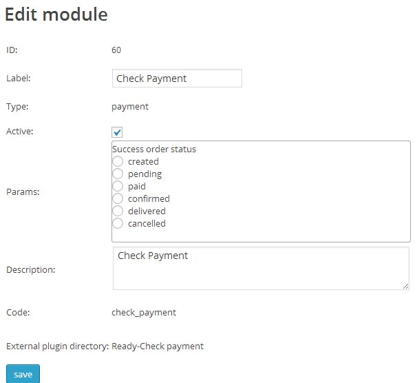 Check payment